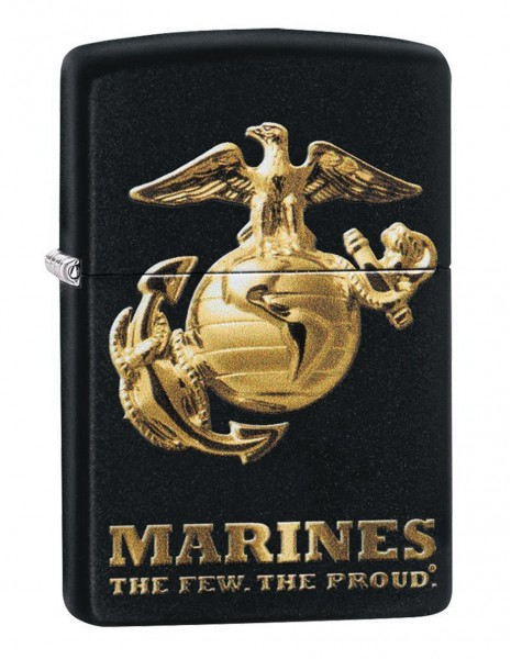 Original Zippo Upaljač Black Matte Matte U.S. Marine Corps 49149