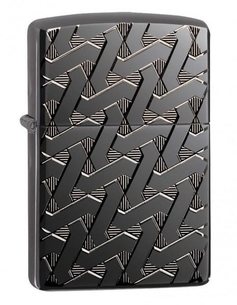 Zippo 49173 Original Zippo Upaljač Armor Black Ice Geometric Weave
