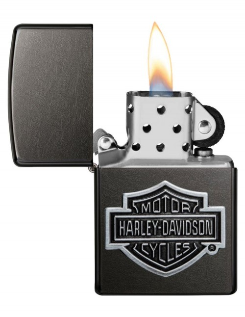 Original Zippo Lighter Gray Dusk Amblem Harley-Davidson Cycles 60004457