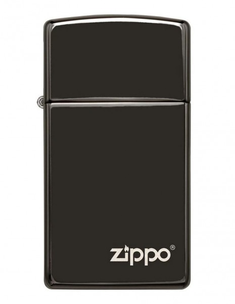 Original Zippo Lighter Slim Black Ice Zippo Logo 28123ZL