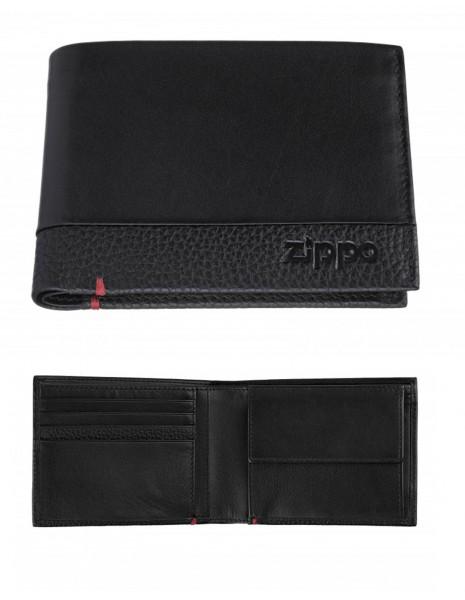 Zippo 2006020 Original Zippo Nappa Leather Wallet Tri-Fold Black