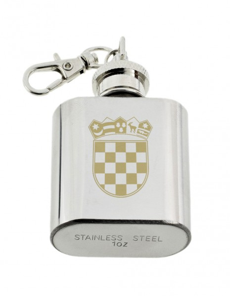 Mini Hip Flask Croatia Crest Emblem 30ml