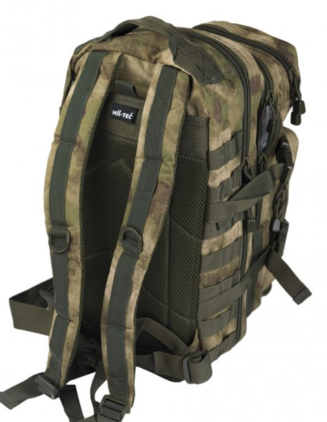 Outdoor Camping Hiking Army Backpack Assault 25L A-Tacs FG 14002059