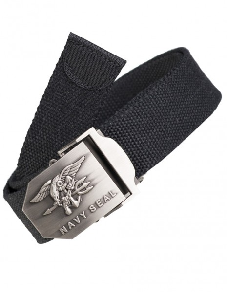 Miltec 13113802  Military Army Belt US Navy Seal Black 130cm