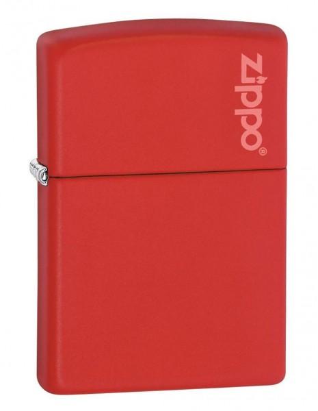 Original Zippo Lighter Red Matte Zippo Logo 233ZL