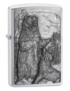 Zippo Upaljač Bear vs. Wolf Brushed Chrome 29636