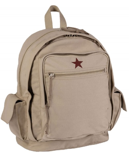 Miltec City Backpack Red Star Canvas Khaki 14005004