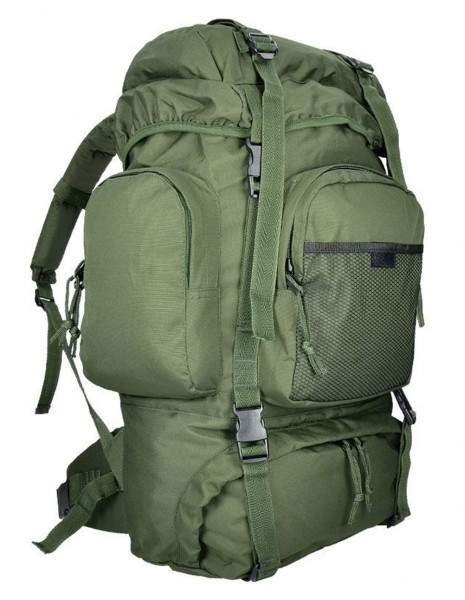 Miltec Outdoor Hiking Army Hunting Rucksack Commando 55 Liters Olive 14027001