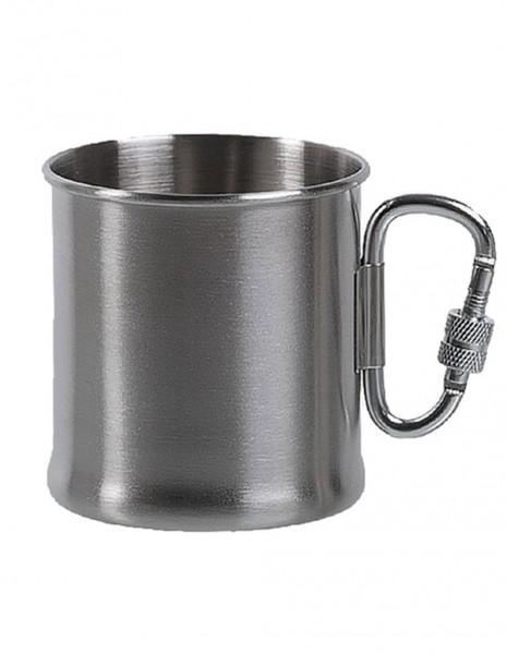 Miltec 14607800 Outdoor Šalica s Karabinjerom Stainless Steel 250ml