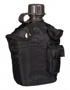 Miltec US Vojnička Planinarska Čutura Za Vodu S Futrolom Black 14505002