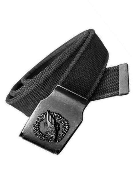Miltec Retro Belt Paratrooper Eagle Safety Para Black 13161002