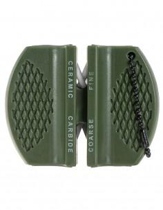 Miltec Knife Sharpener Carbid / Ceramic Block Olive 15445000