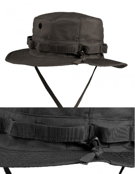 Miltec Adjustable USGI Boonie Hat Universal Size Black 12323002