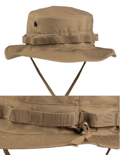 Miltec Adjustable USGI Boonie Hat Universal Size Coyote 12323005