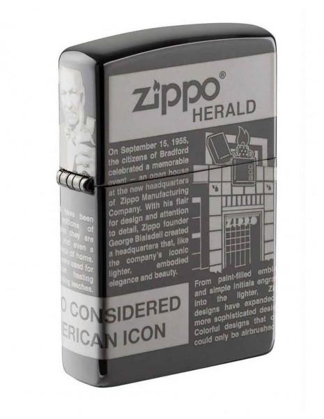 Zippo Lighter Herald Newsprint Design 28977