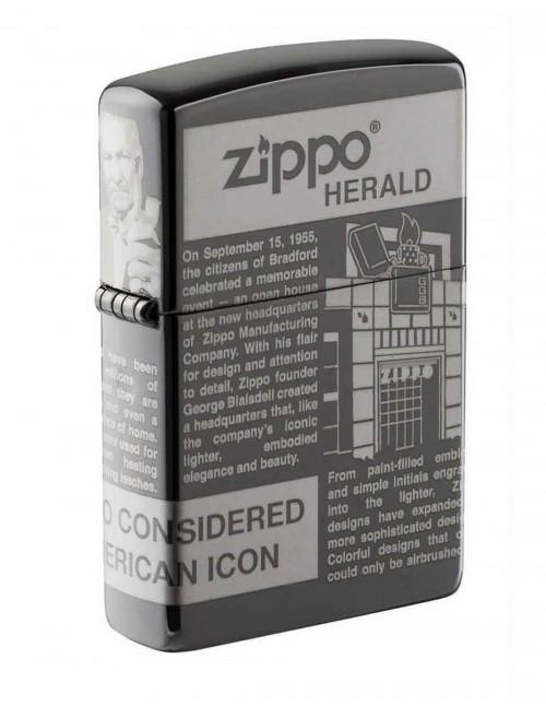 Original Zippo Upaljač Herald Newsprint Design 28977