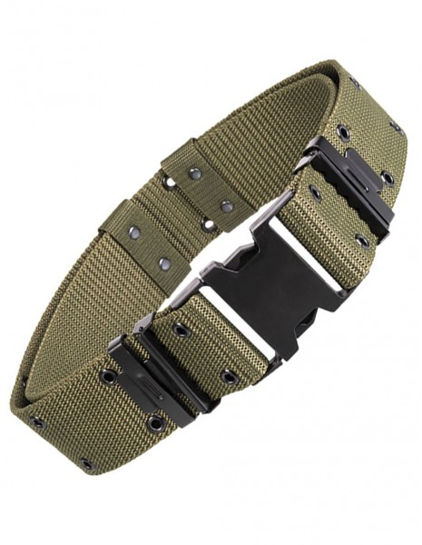 Miltec Army Hunting Hiking Airsoft Tactical Pistol Belt LC2 Olive 13310001 SALE