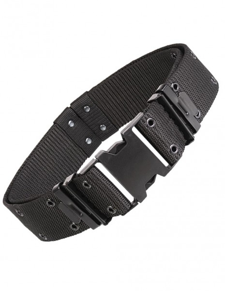 Miltec 13310002 Army Hunting Hiking Airsoft Tactical Pistol Belt LC2 Black