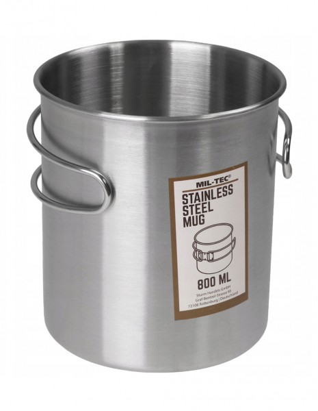 Miltec Planinarska Posuda Za Kuhanje Stainless Steel Wire Handle 800 ml 14602800
