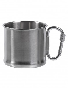 Miltec Outdoor Camping Mug with Carabiner Stainless Steel 500ml 14607900