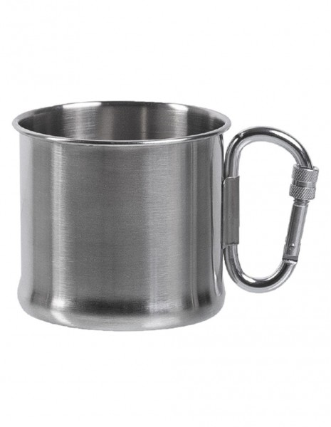 Miltec 14607900 Outdoor Camping Mug with Carabiner Stainless Steel 500ml