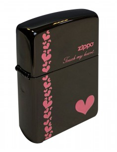 Original Zippo Upaljač Touch My Heart Black Ice ZA-2-34B
