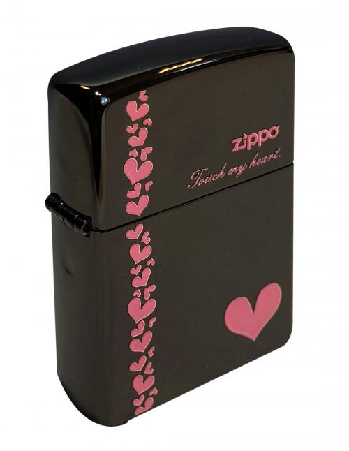 Original Zippo Upaljač Touch My Heart Black Ice ZA-2-34B