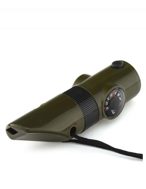 Miltec 16328410  Signalni komplet za preživljavanje 6-u-1 Zvizdaljka Kompas Termometar