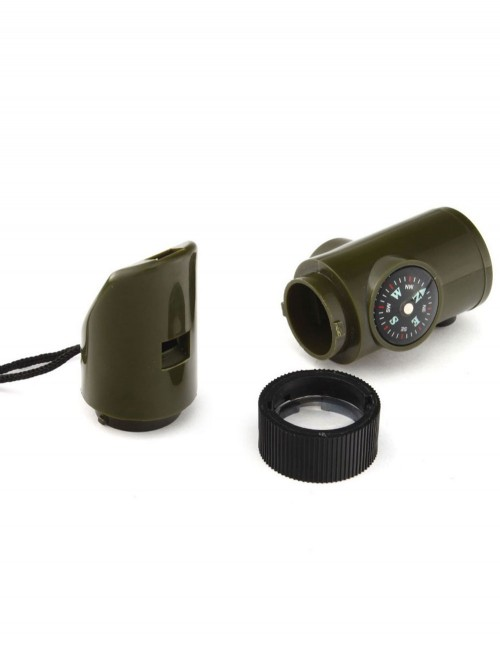 Miltec 16328410 Signal survival kit 7-in-1 Whistle Compass Thermometar Sale
