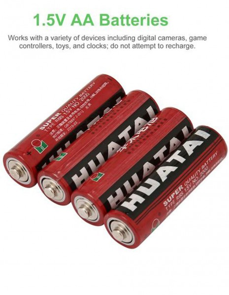 Huatai AA Carbon Dry Batteries Pack 4 pieces