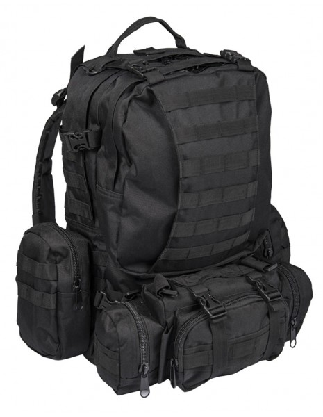 Defense Pack Modular Hiking Hunting Tactical Army Backpack 45L Black