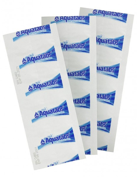 BCB AquaTabs Water Purification Tablets 8.5mg Strip 10pcs