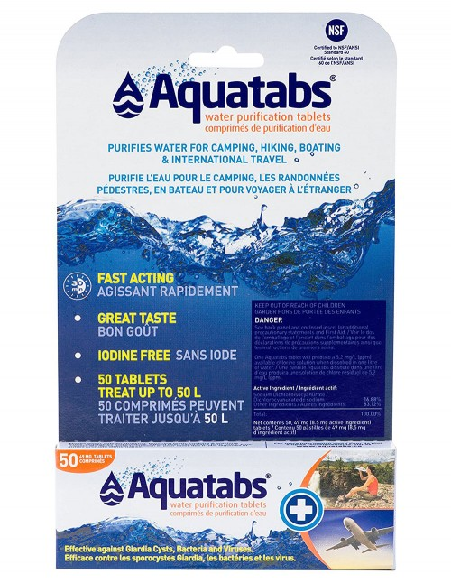 BCB AquaTabs Water Purification Tablets 8.5mg Strip 10pcs