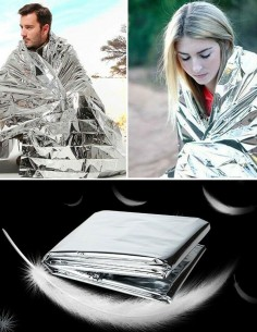 BCB CL041 Reflective Survival Hipotermia Blanket Silver