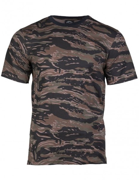 Miltec 11012022 Camouflage T-Shirt Cotton Tiger Stripe