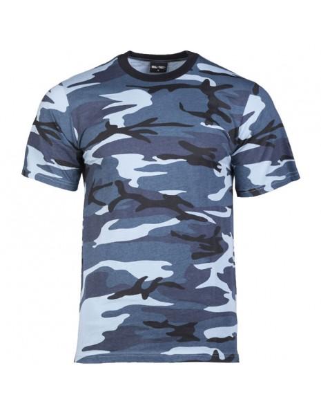 Miltec 11012023 Camouflage T-Shirt Cotton Sky Camo