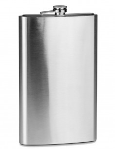 Giant Hip Flask Stainless Steel 1.9 Liter / 84oz