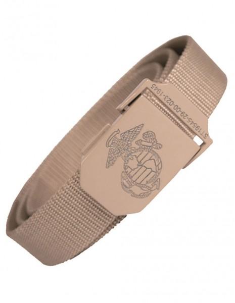 Miltec 13114004 Original USMC Web Belt 130cm Khaki