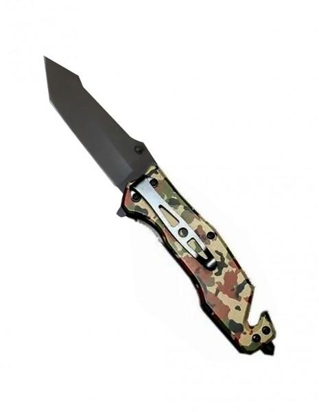 Mastiff DA161 Tanto Car Rescue Folding Knife Camo