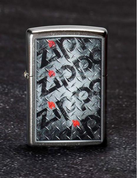 Zippo 29838 Original Zippo Lighter Street Chrome Diamond Plate Zippo Design