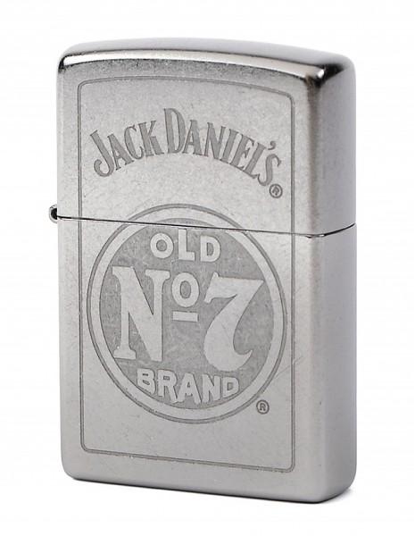 Zippo 29757 Original Zippo Lighter Classic Street Chrome Jack Daniel's No7