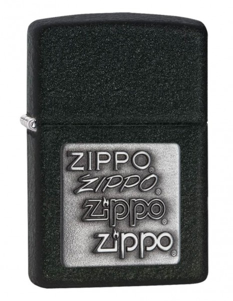 Zippo 363 Original Zippo Upaljač Black Crackle Silver Zippo Logo