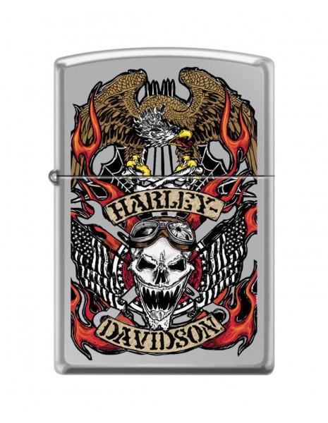 Zippo Upaljač High Polish Harley-Davidson® Skull Design