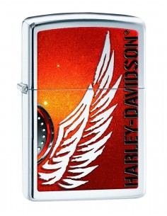 Zippo 28977 Original Zippo Upaljač High Polish Chrome Harley Davidson Wings