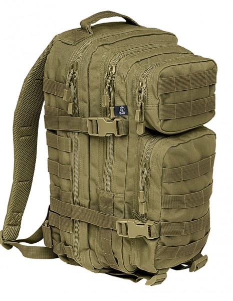 Brandit 8007 Camping Hiking Army Molle Backpack US Cooper Medium Olive