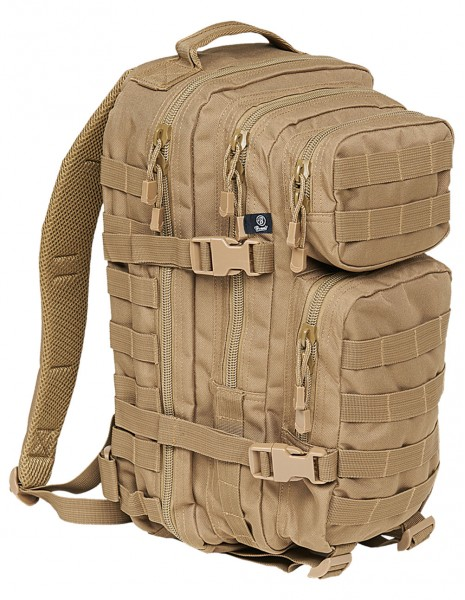 Brandit 8007 Camping Hiking Army Molle Backpack US Cooper Medium Camel Desert