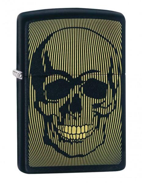 Zippo 49216 Original Zippo Lighter Golden Skull Laser Engraved