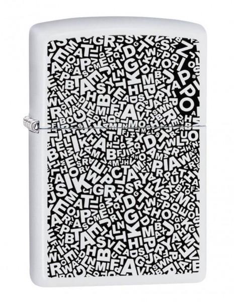 Zippo 49213 Original Zippo Lighter White Matte Pad Print