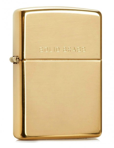 Zippo 204 Original Zippo Lighter Brushed Brass Solid Brass