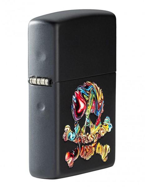 Zippo 49187 Original Zippo Lighter 3D Skull Texture Design